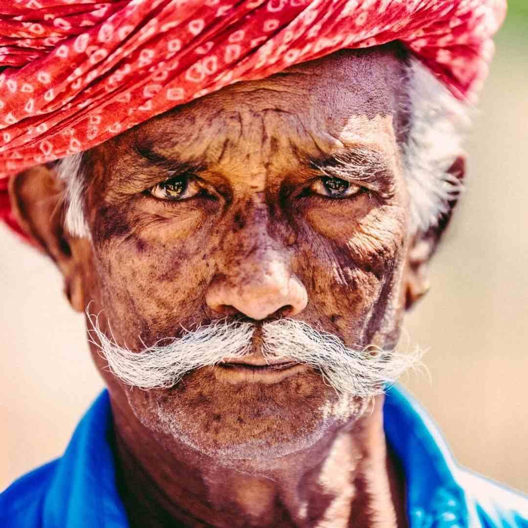 Rajasthani old man